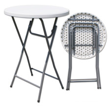 Blow Mold HDPE Plastic Stackable Porttable Eco-Friendly Cocktail Bar Table (HQ-Y81)