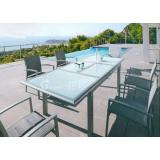 Modern extendable dining table extendable aluminum patio dining set