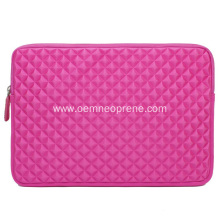 Pink Neoprene Laptop Bags With Velvet