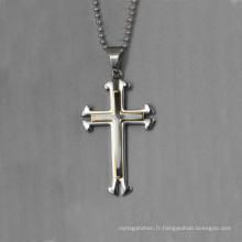 En gros simple pendentif design, double émail croix pendentif bijoux