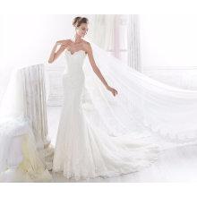 Sereia Lace Strapless Evening vestido de noiva nupcial