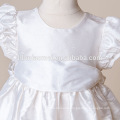 Newborn Christening growns Clothes Satin Silk With Pink Purple White Sashes Baptism Dress for Infant Girls Pageant Dresses