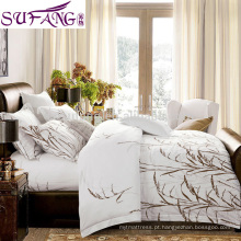 2017 Amazon Venda Quente de Luxo Hotel Qualidade Stripe Cotton 3 pcs Conjunto de Cama