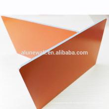 Nano naranja 4 * 0,5 mm núcleo ignífugo paneles compuestos de aluminio ACP