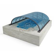 Couvercle en verre de piscine à abat-jour en plastique