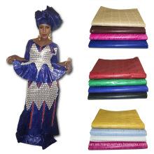 Vestido africano impreso hecho punto 2017 del bordado de Bazin de la tela de la materia textil del telar jacquar de la última moda