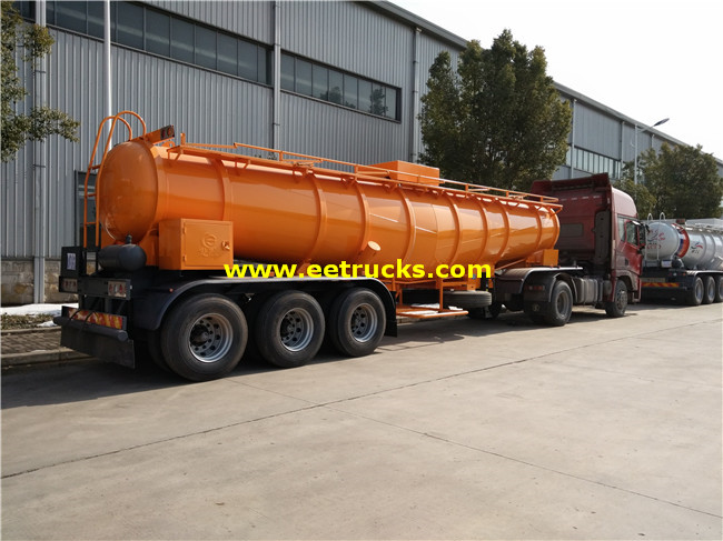 Sulfuric Acid Delivery Tanker Trailer