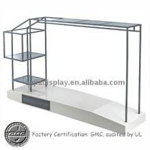 high end clothes rack/garment display stand/metal clothing shopfitting