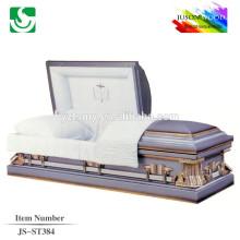 violet métal cercueil en gros