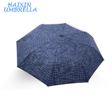 Cheap Promotional China Mens Quality Polyester Strong Soild Color Blue Man Promotional Wholesale 4 Fold Umbrella Factory Fujian