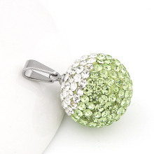 Moda de titanio de acero de 20 mm de cristal bola de diamante colgante