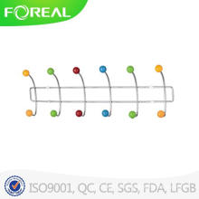Wall Mounted Chromed Metal Wire Hat Hooks