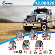 Neumáticos de camiones radiales de acero (12.00R20) con ECE DOT
