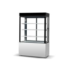 Refrigerador de vitrina comercial de forma cuadrada