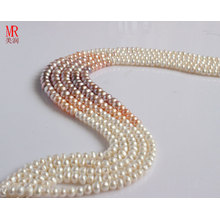 7-8-9mm Freshwater Pearl Strand, Button Round (ES146-7)