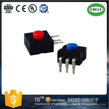 Interruptor de botón pequeño con LED, mini interruptor de botón, el botón de linterna Interruptor de botón dedicado de la lámpara de un minero (ENCENDIDO - APAGADO)