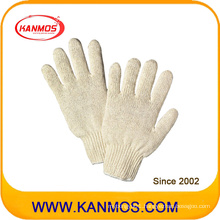 Natural White Cotton Knitted Industrial Hand Safety Work Gloves (61002)