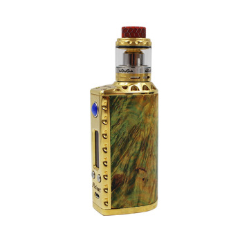Stabilized Wood Box Mod Tempareturer Stabilized Wood Mod Single 18650 21700 20700 แบตเตอรี่