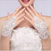 Neue Art-schöne moderne fingerlose Hochzeits-Spitze-Brauthandschuhe