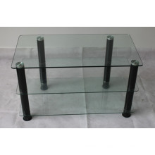 3 полки с прозрачной стеклянной подставкой