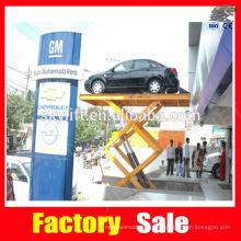 plataforma de tijera hidráulica para el estacionamiento de automóviles