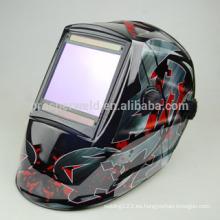 Diseño patentado de alta calidad de oscurecimiento automático casco de soldadura