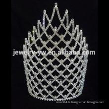 Vente en gros grande promotion grand tiare couronne