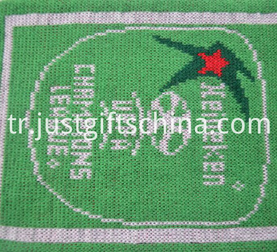 Promotional Green Color Printed Knitted Scarf3
