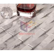 Carrara White Marble Mosaic Tile (CFS885)