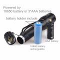 TP-1877 XML T6 / U2 LED Leistungsstarke Licht / Zoomable Power Taschenlampe mit Nylon Tasche