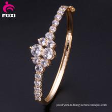 Bracelets synthétiques en bijouterie en diamant en zirconium