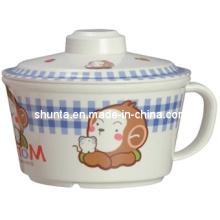 100% меламин посуда - детские кружка W/Крышка меламина чаша (BG635S)