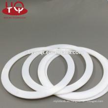 Sellos de goma de ptfe blanco Junta de teflon / fkm arandela de FPM juntas planas Viton anillos de sellado pad
