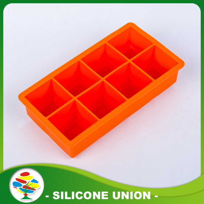 Orange Rectangle Silicone Ice Mold