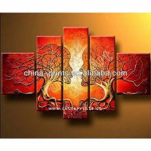 Pintura al óleo multi abstracta más nueva de la pared de Diy del beso de los paneles