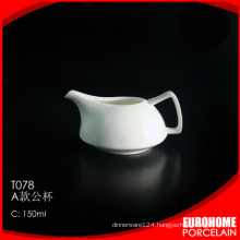 2016 new style special design elegant white crockery milk creamer