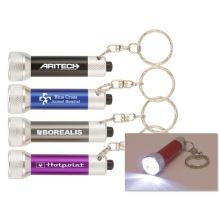 Metallweißes helles Keychain beleuchtet für Firmenwerbungsgeschenke