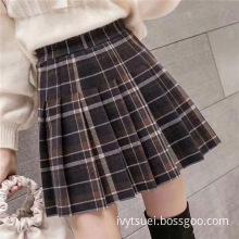 High Waist Fashion pleated Short Skirt