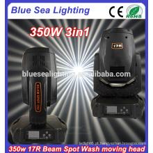 DMX estágio 17r 350w feixe de luz de cabeça movente do ponto
