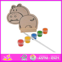 2014 New Play Paint Toy Kids Toy, Cheap DIY Wooden Toy Children Paint Toy, Educational Toy Wooden Paint Baby Toy W03A053