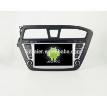 HOT!car dvd with mirror link/DVR/TPMS/OBD2 for 8 inch touch screen quad core 4.4 Android system Hyundai I20