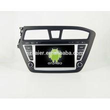 Горячая!автомобильный DVD с зеркальная связь/видеорегистратор/ТМЗ/obd2 для 8 дюймов сенсорный экран четырехъядерный процессор андроид 4.4 системы Хундай i20