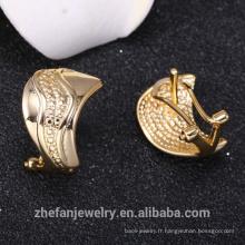 Boucle d'oreille de bijoux en or saoudien de haute qualité bijoux outre-mer