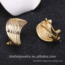 Overseas jewelry high quality saudi 14k gold jewelry earring