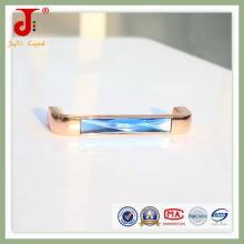 Poignées de meuble de cuisine en cristal clair et grand en cristal bleu
