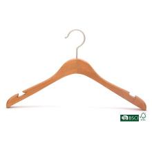 Baixo Preço Triângulo entalhado cabide de madeira da camisa