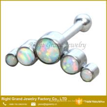 Acero Quirúrgico 316L 5 Opal Gems Jewelled Ear Tragus Helix Cartilage