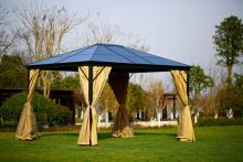 屋外のパティオ側の壁と販売のため Aluminm ローマの望楼テントを使用します。