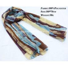 100% Polyester Chiffon Infinity Scarve