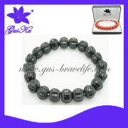 2014 Gus-Tmb-025 Newest Hand-Knitted Black Bracelets Jewelry with Energy in Tourmaline Beads Accessory Material for Loving